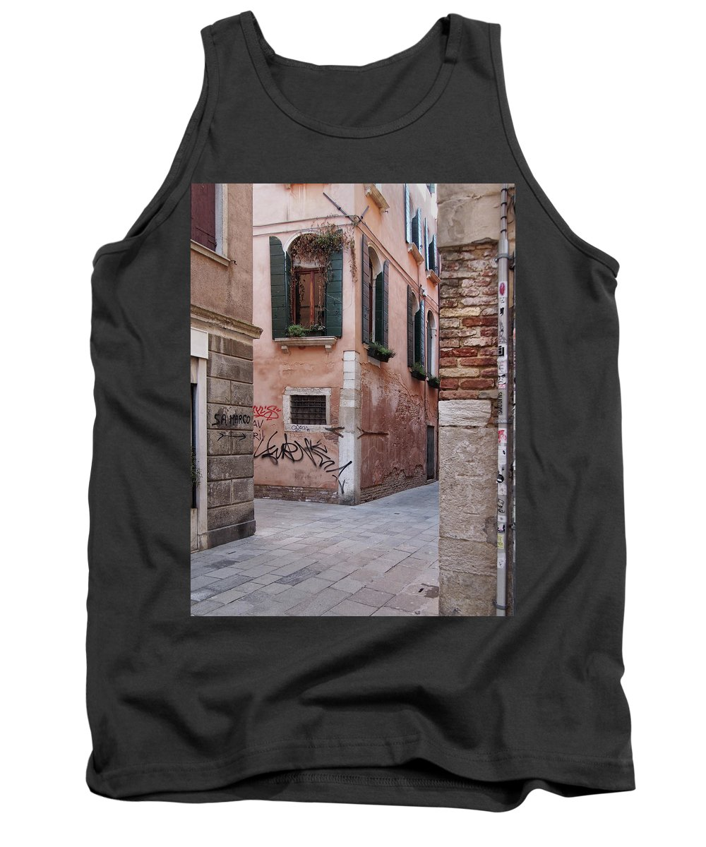 Venice Tank Top featuring the photograph Quiet Corner In Venice by Philip Openshaw