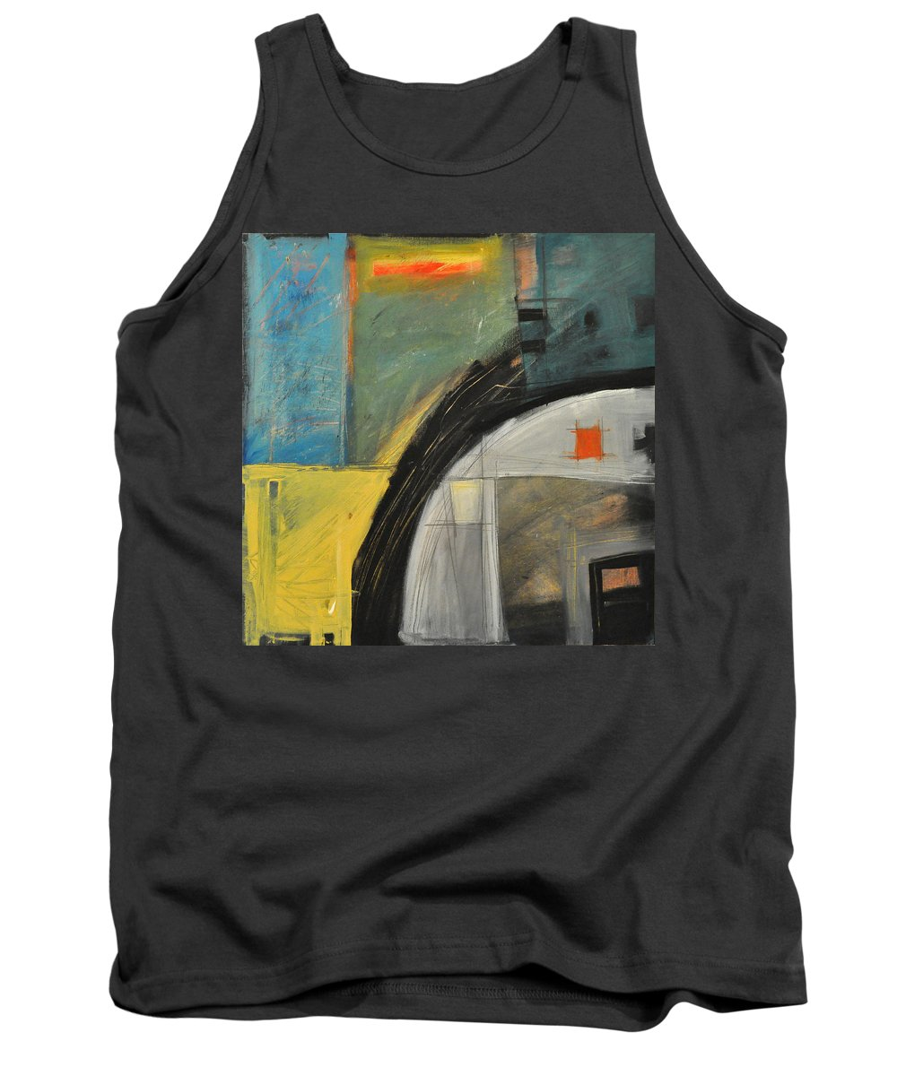 Abstract Tank Top featuring the painting Quonset by Tim Nyberg
