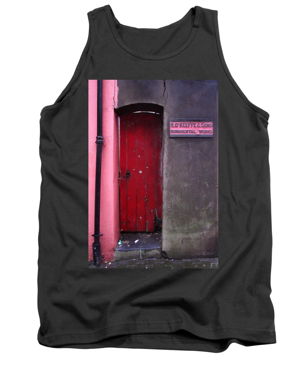 Red Tank Top featuring the photograph R. O. Keeffee And Sons by Tim Nyberg
