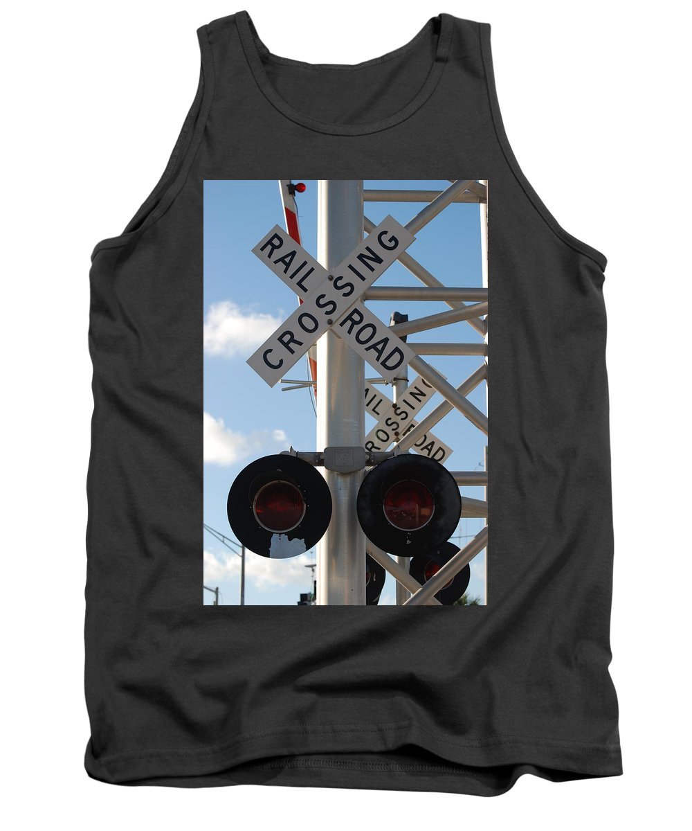 Train Tank Top featuring the photograph R X R Crossing by Rob Hans