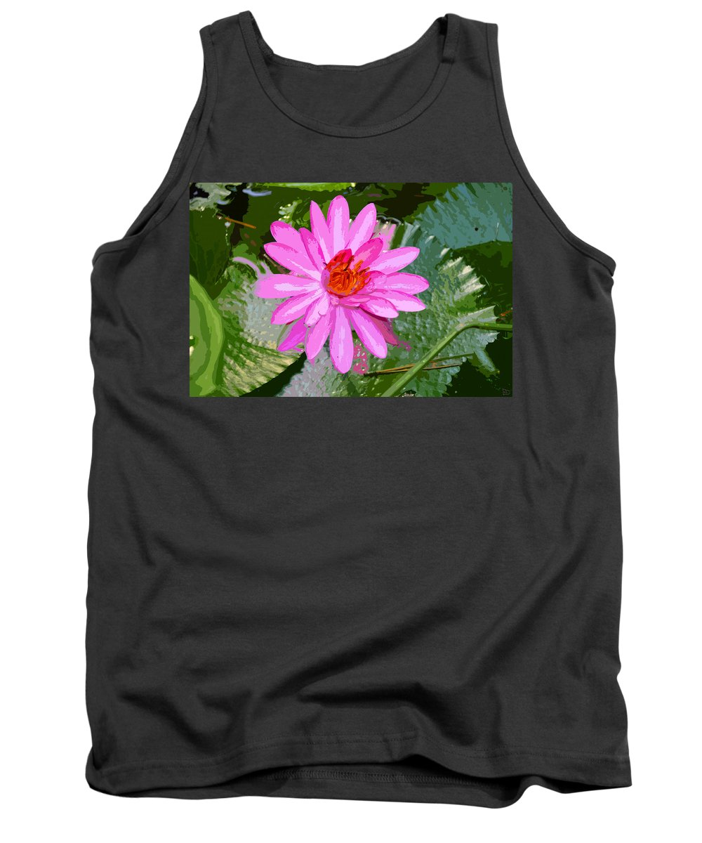 Flower Tank Top featuring the painting Radiant Pink by David Lee Thompson