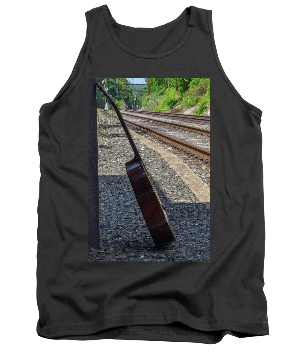 Railroad Tank Top featuring the photograph Railroad Song by Bill Cannon