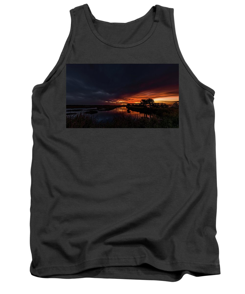 Indian River Tank Top featuring the photograph Rain Or Shine - by Norman Peay
