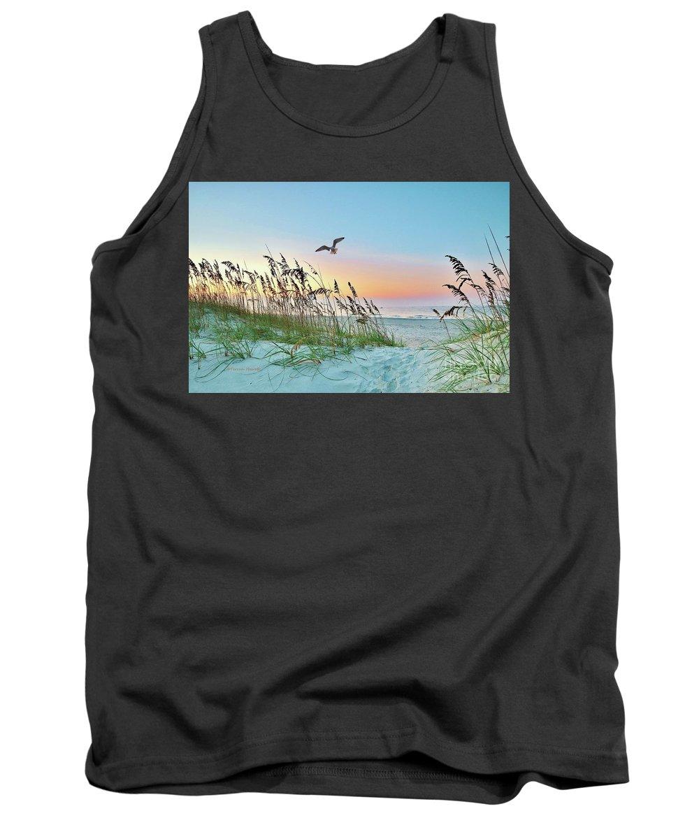 Holden Beach Tank Top featuring the photograph Rainbow Dune by Terrah Hewett