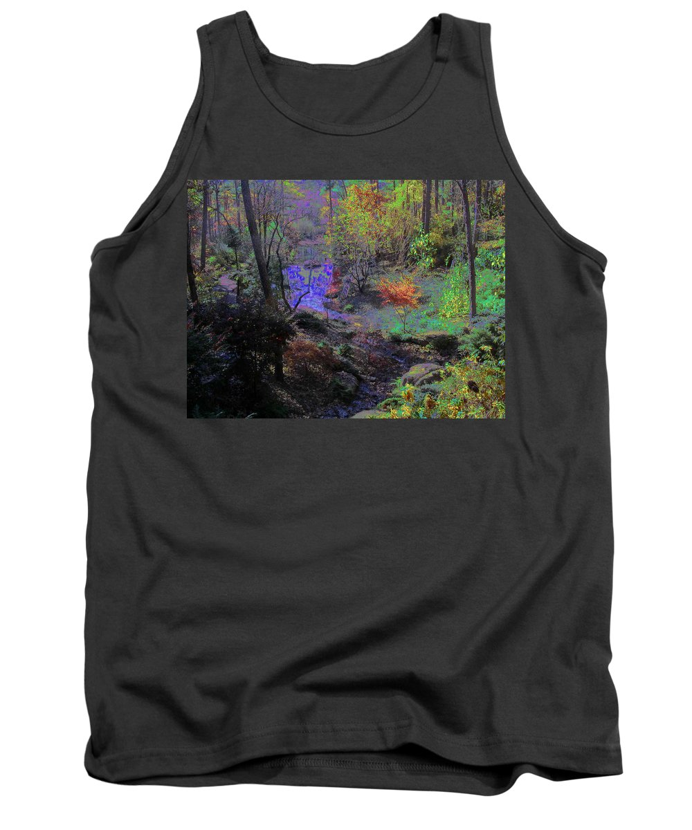 Woods Tank Top featuring the photograph Rainbow Fairies Sweep Across The Landscape by Anne Cameron Cutri