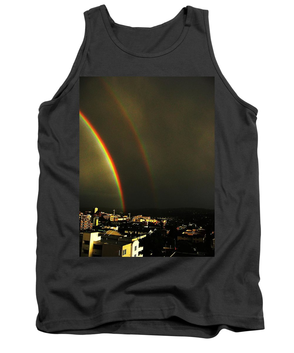 Seattle Tank Top featuring the photograph Rainbow by Tim Allen