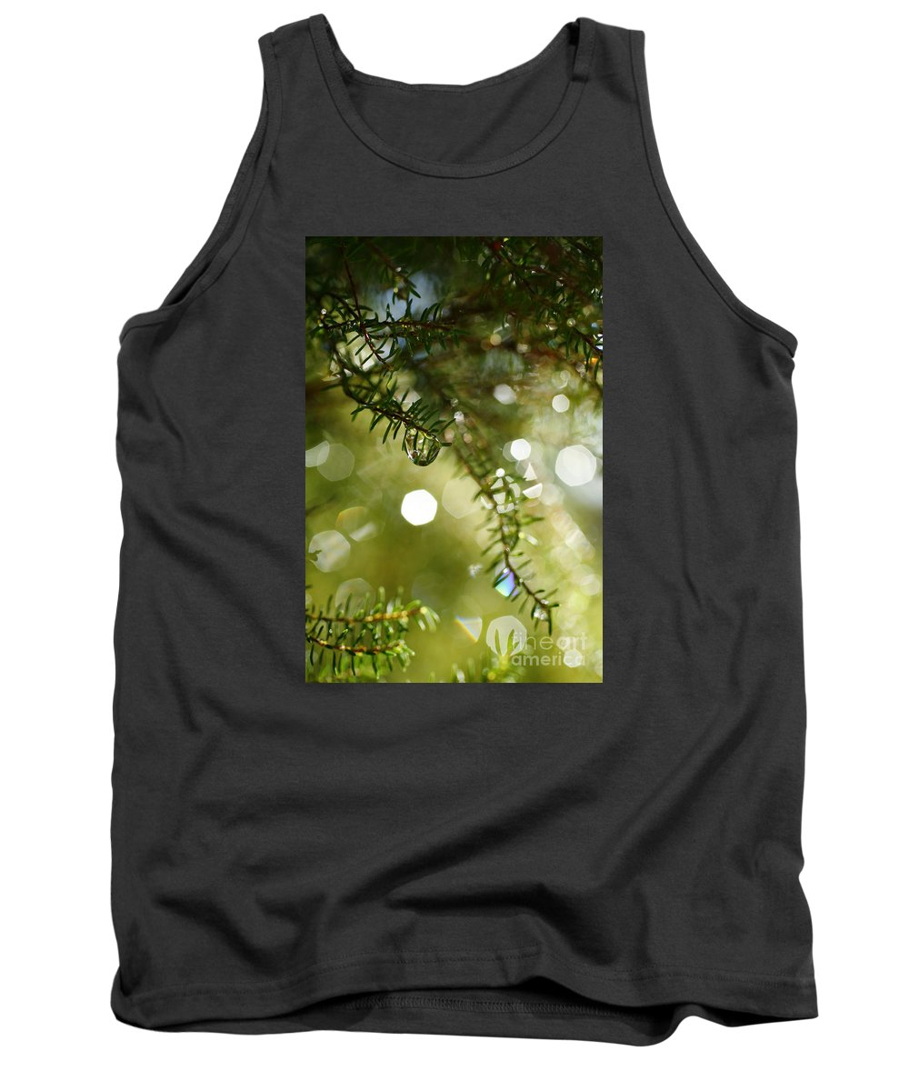 Dew Tank Top featuring the photograph Raindrops by Gaspar Avila