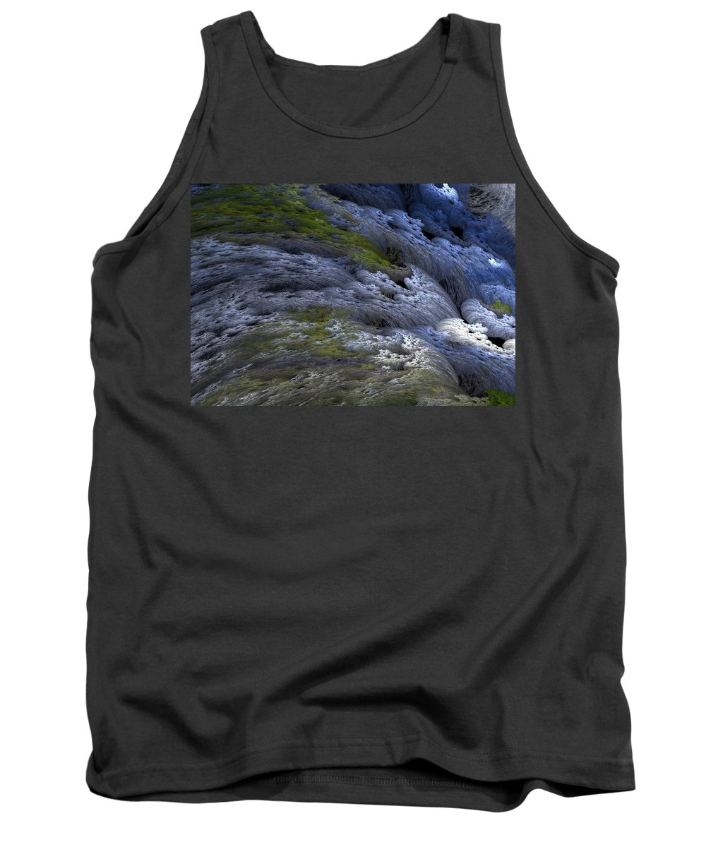 Digital Painting Tank Top featuring the digital art Rapids by David Lane