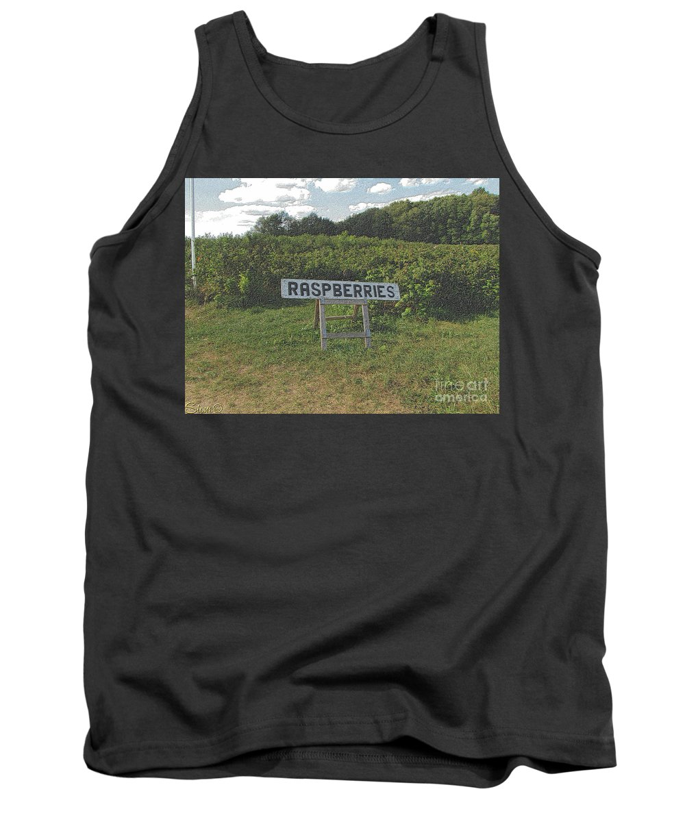 Country Tank Top featuring the photograph Raspberry Fields Three by September Stone