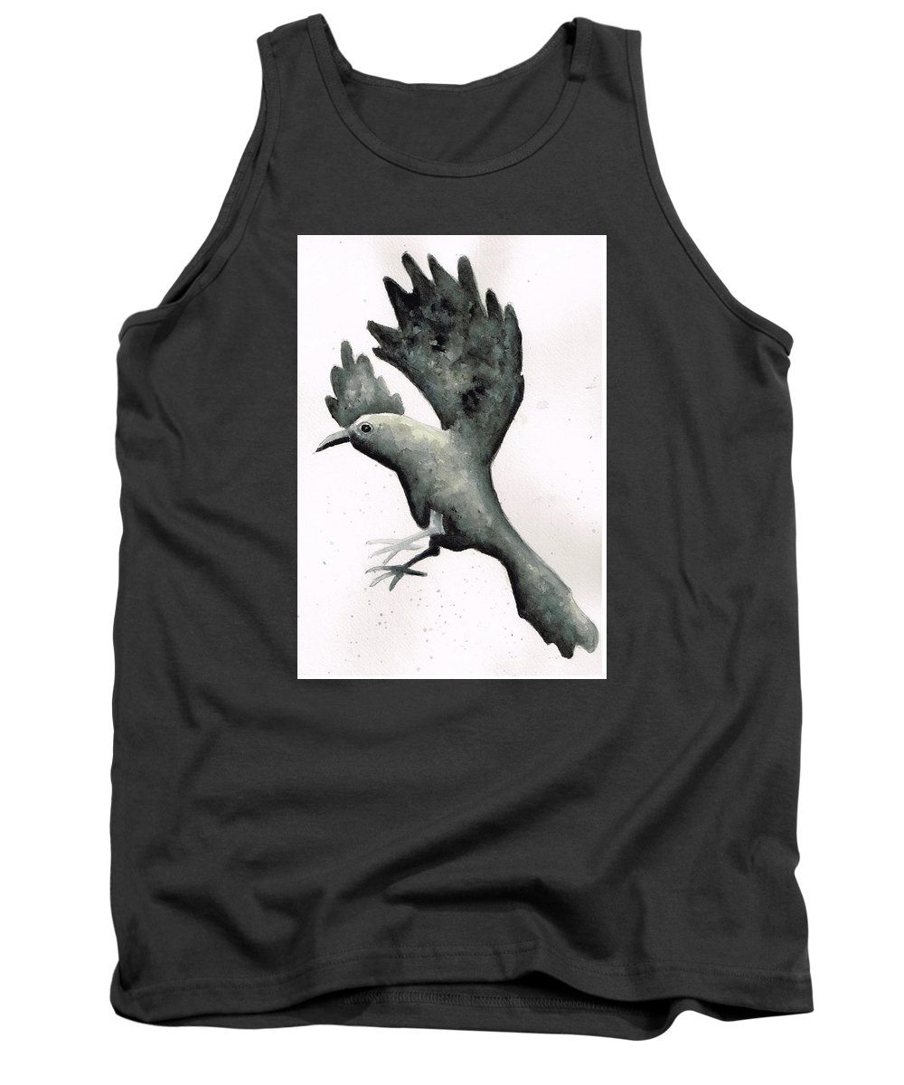 Raven Tank Top featuring the painting Raven by Janremi B