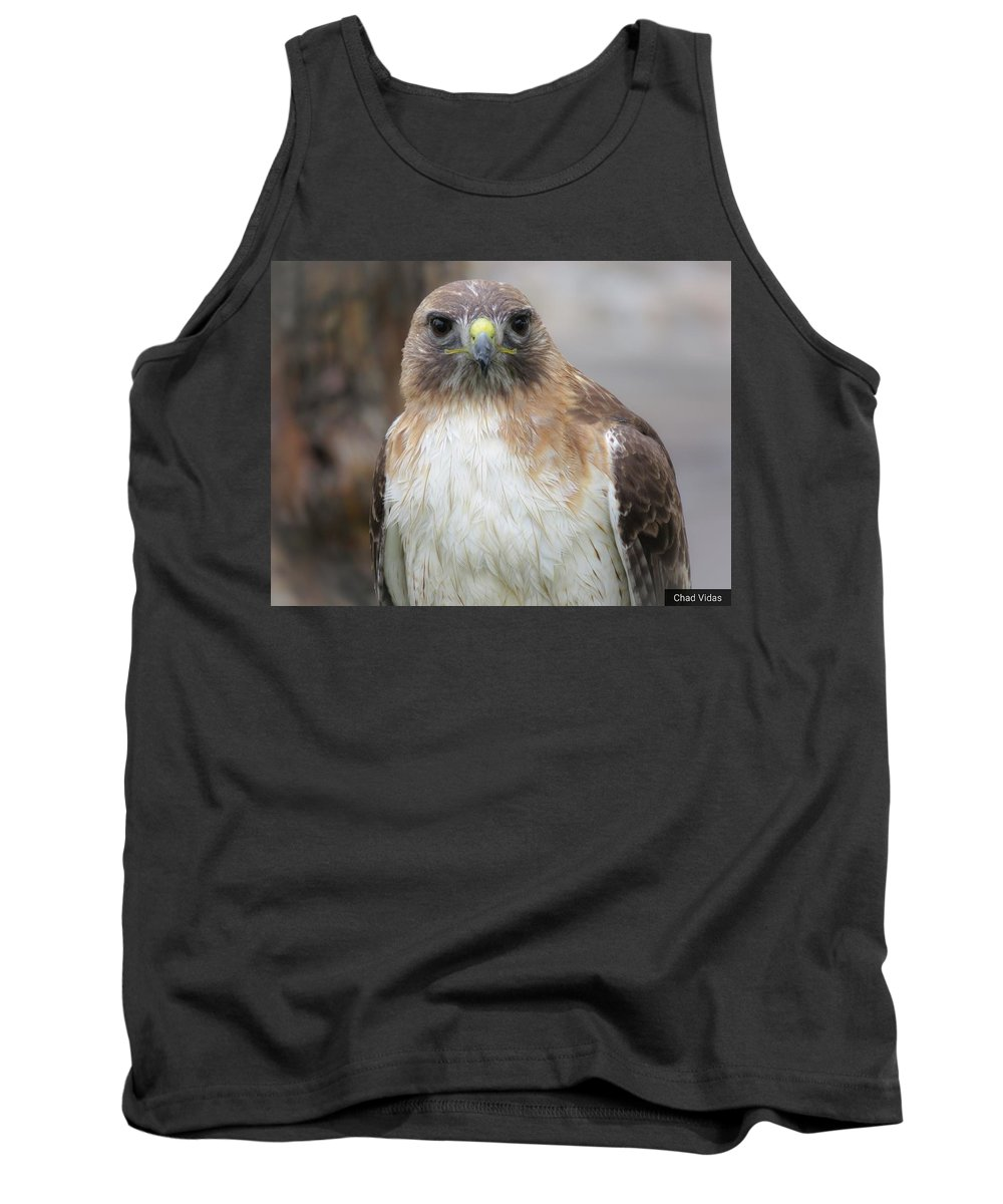 Red-tail Hawk Tank Top featuring the photograph Ready by Chad Vidas