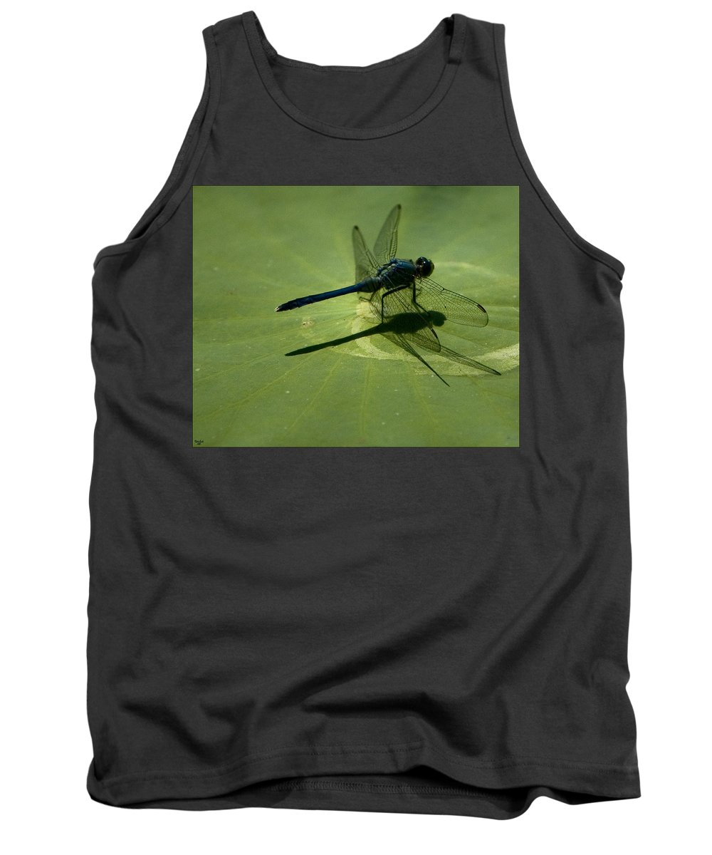 Dragonfly Tank Top featuring the photograph Ready For Takeoff by Chris Lord