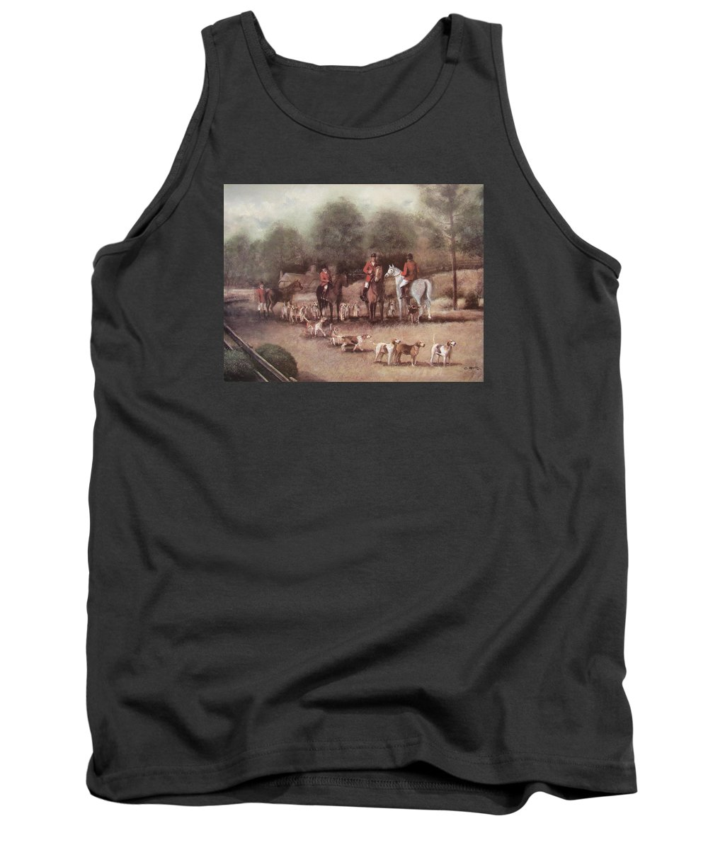 Charles Roy Smith Tank Top featuring the painting Ready For The Hunt by Charles Roy Smith