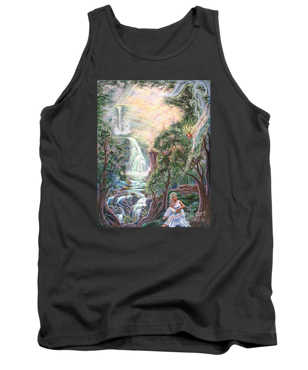 Spiritual Tank Top featuring the painting Ready To Fly by Joyce Jackson