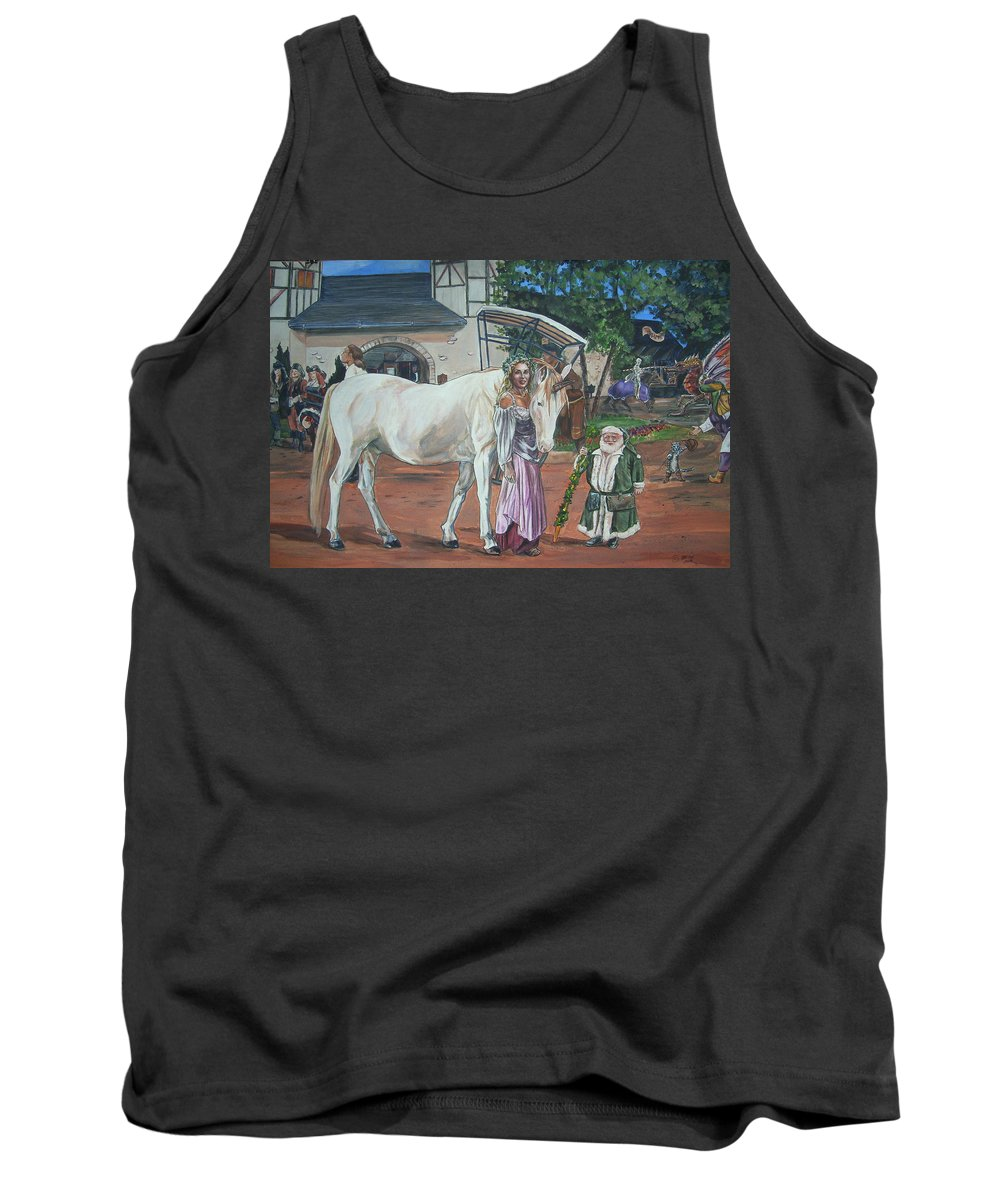 Renaissance Tank Top featuring the painting Real Life In Her Dreams by Bryan Bustard