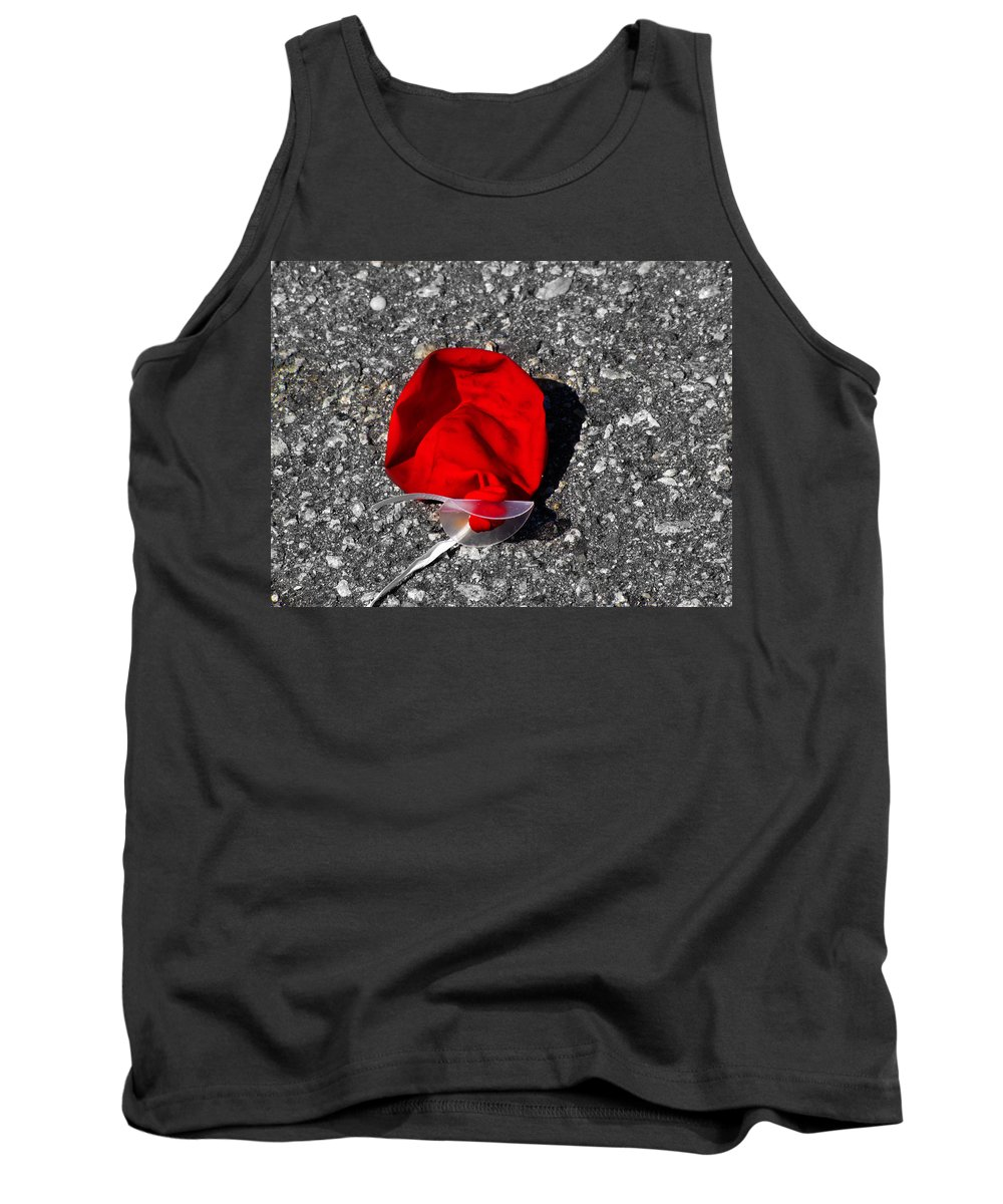 Balloon Tank Top featuring the photograph Red Balloon II by Gary Adkins