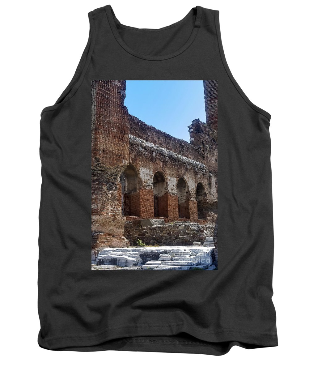 Bergama Tank Top featuring the photograph Red Basilica Scene 7 by Bob Phillips