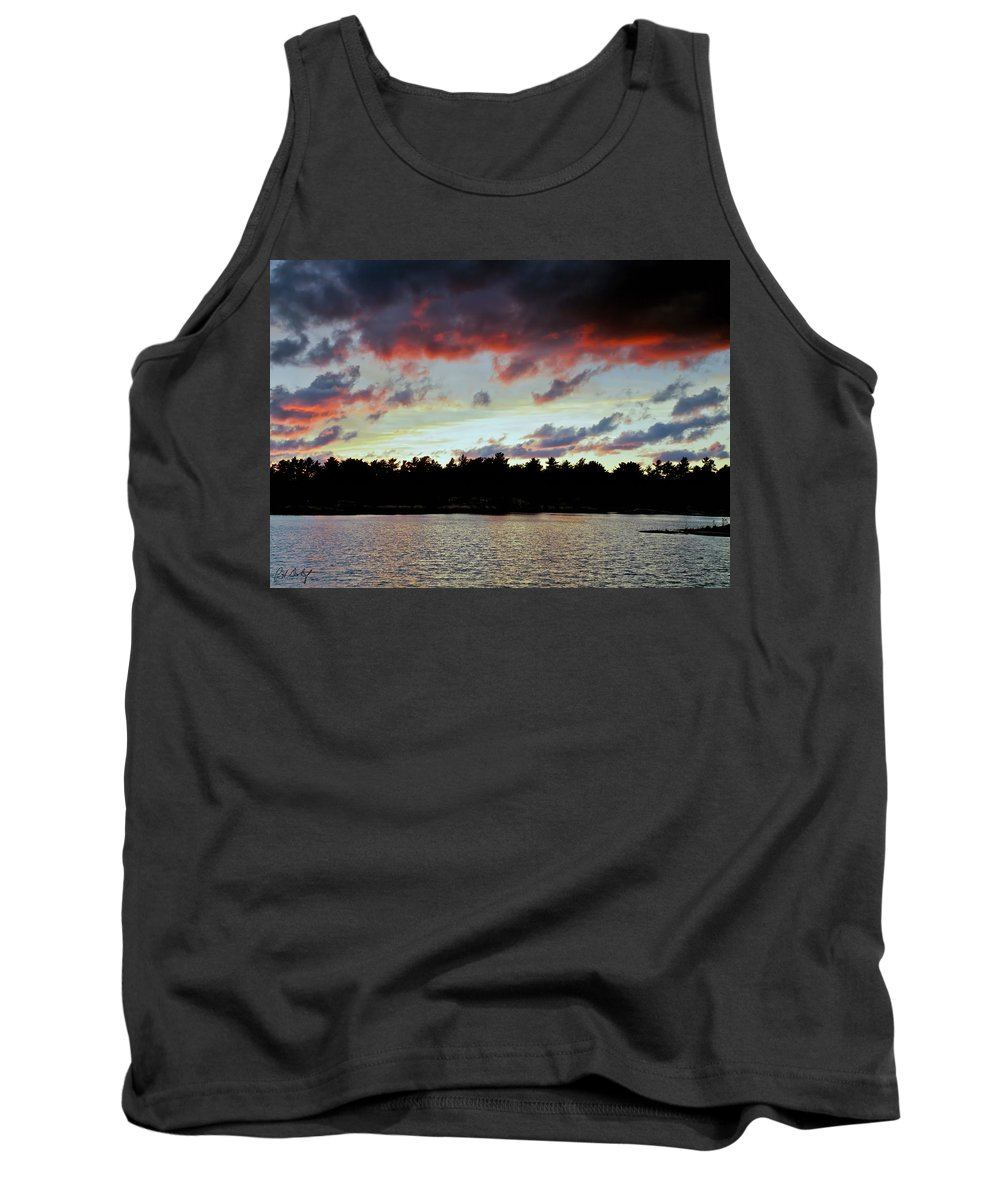 Canada Tank Top featuring the photograph Red Clouds by Phill Doherty