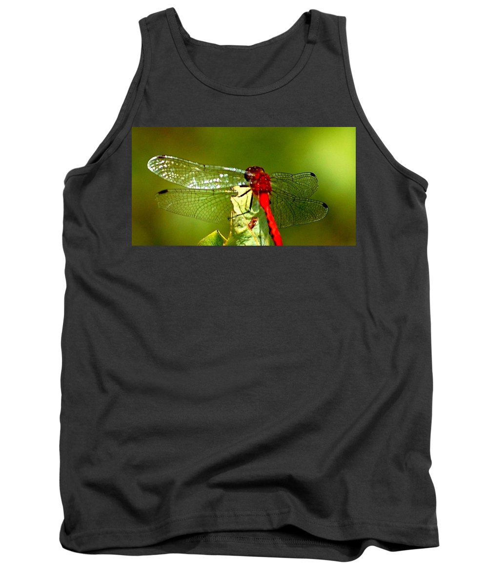 Digital Photograph Tank Top featuring the photograph Red Dragon 2 by David Lane