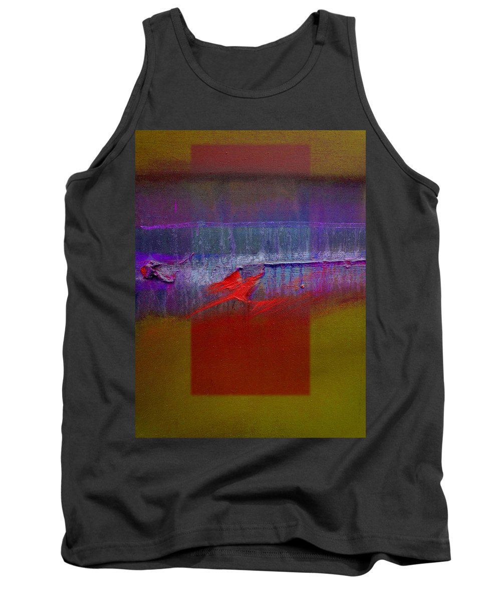 Landscape Tank Top featuring the painting Red Dragon Autumn by Charles Stuart