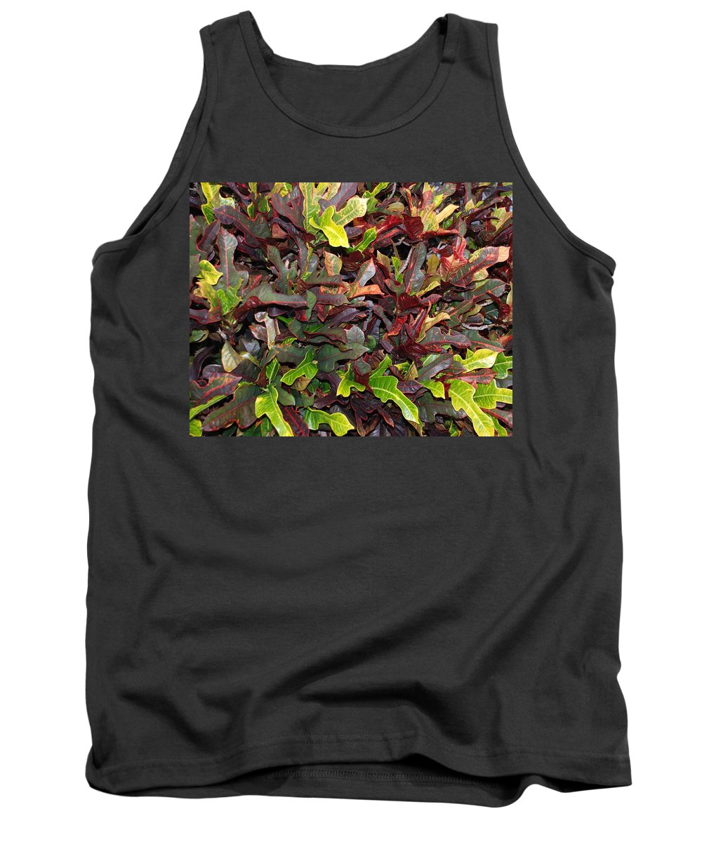 Macro Tank Top featuring the photograph Red Green Leaves by Rob Hans