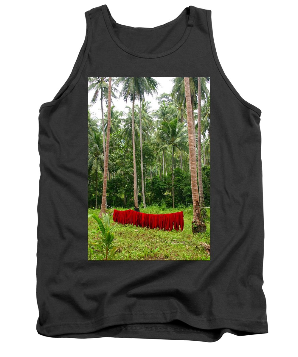 Palm Trees Tank Top featuring the photograph Red In The Jungle by Minaz Jantz