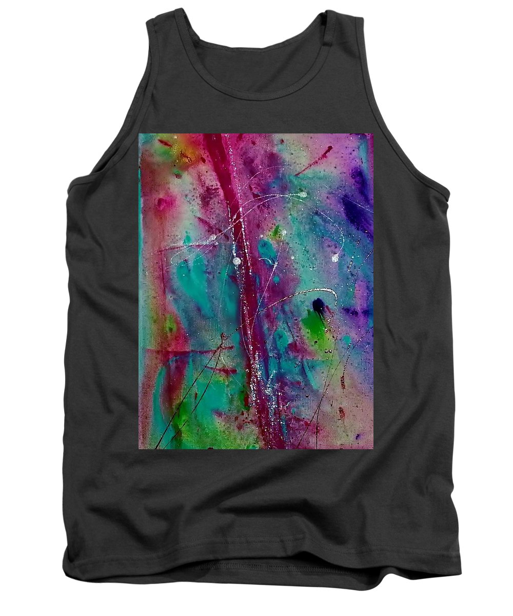 Burgundy Tank Top featuring the painting Red Line by Jan Pellizzer
