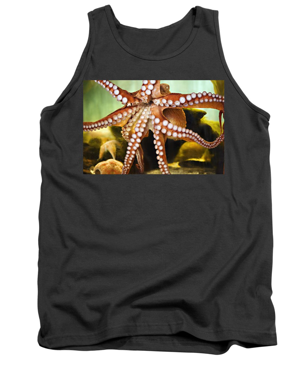 Aquarium Tank Top featuring the photograph Red Octopus by Marilyn Hunt