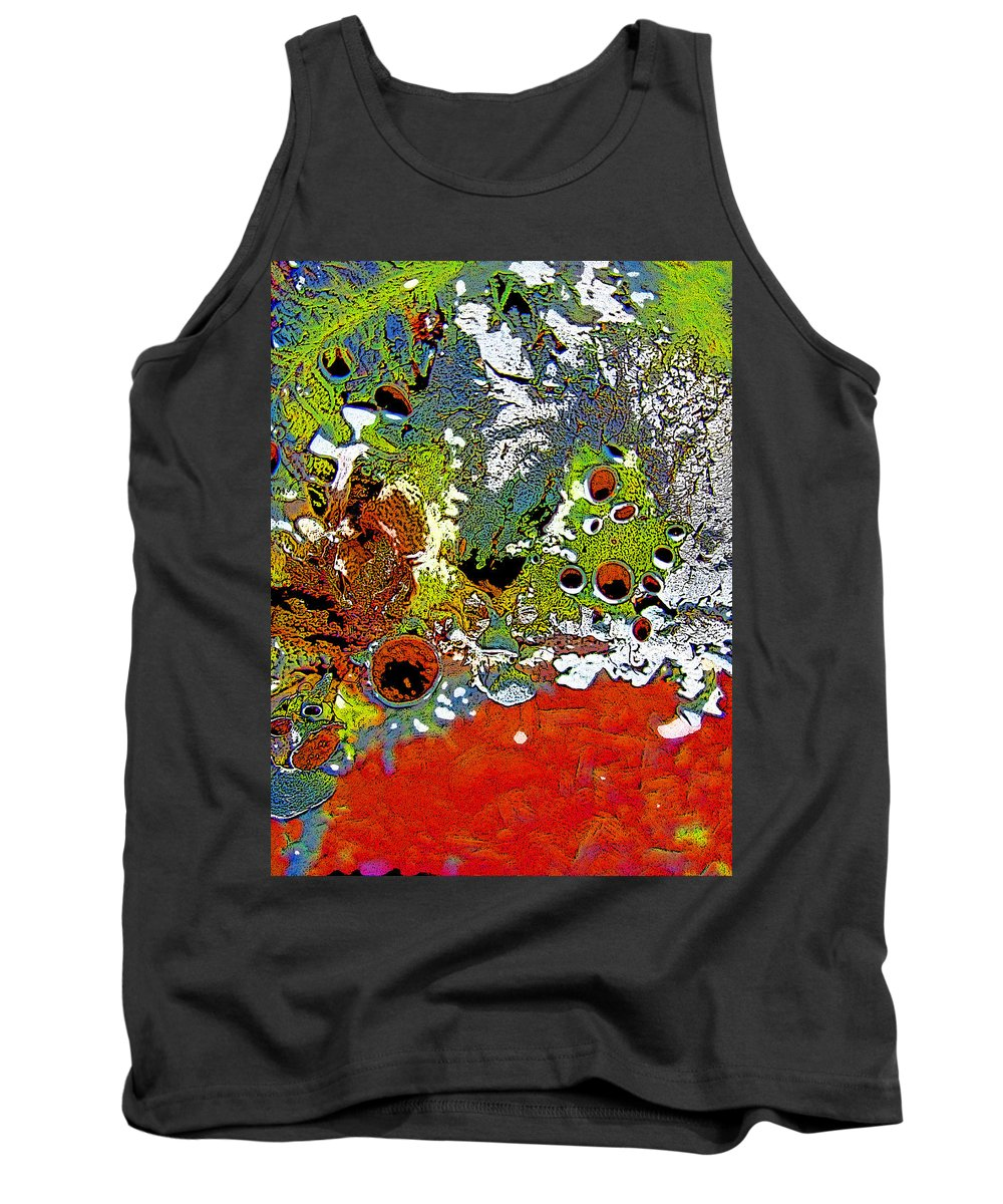 Abstract Tank Top featuring the photograph Red Peacock by Shirley Sykes Bracken