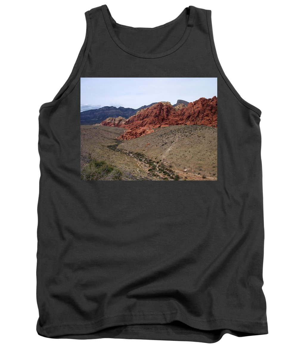 Red Rock Canyon Tank Top featuring the photograph Red Rock Canyon 1 by Anita Burgermeister