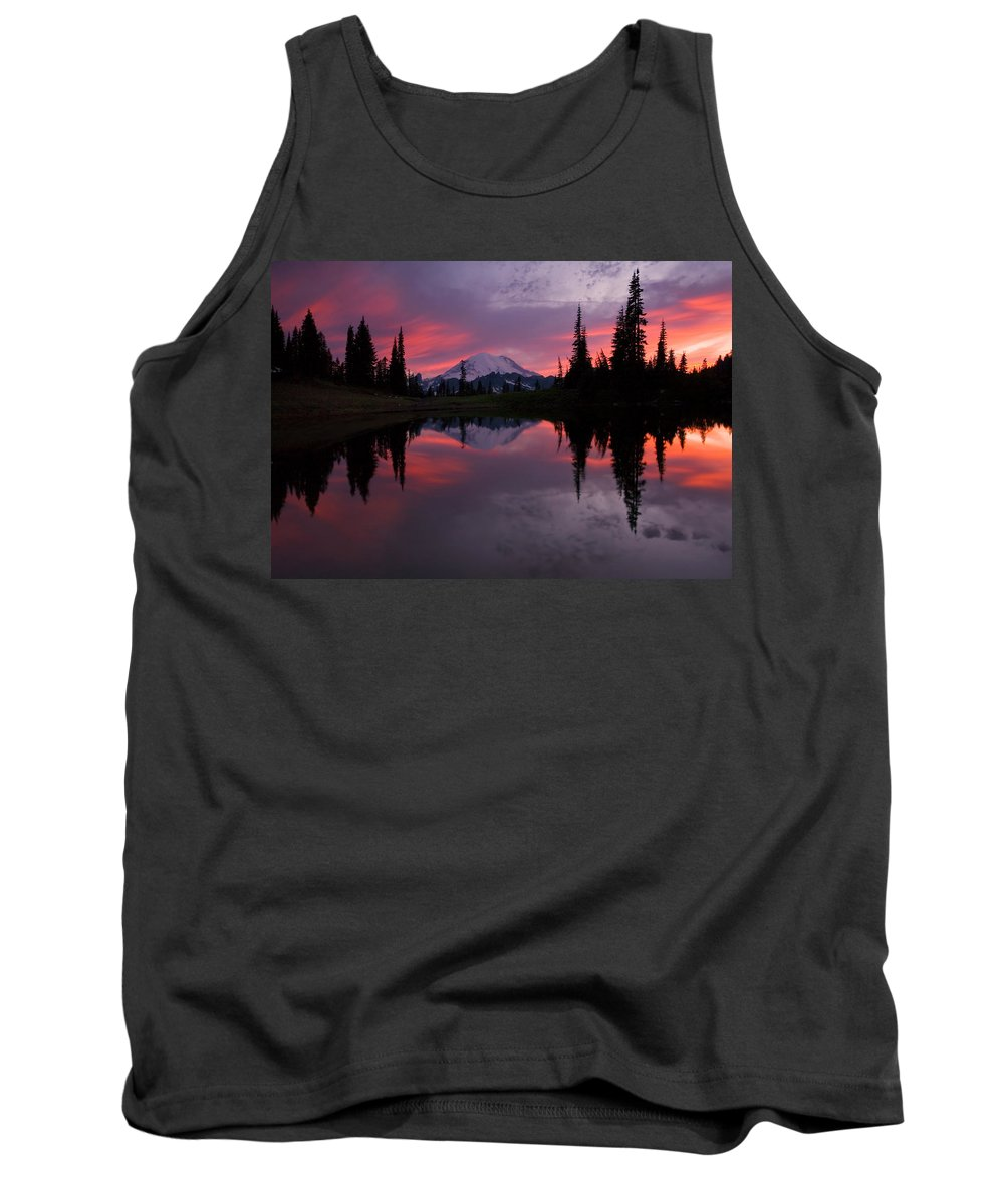 Rainier Tank Top featuring the photograph Red Sky At Night by Mike Dawson