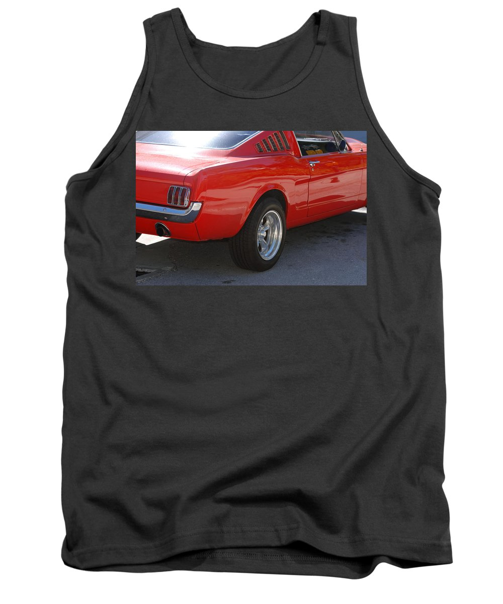 Ford Tank Top featuring the photograph Red Stang by Rob Hans