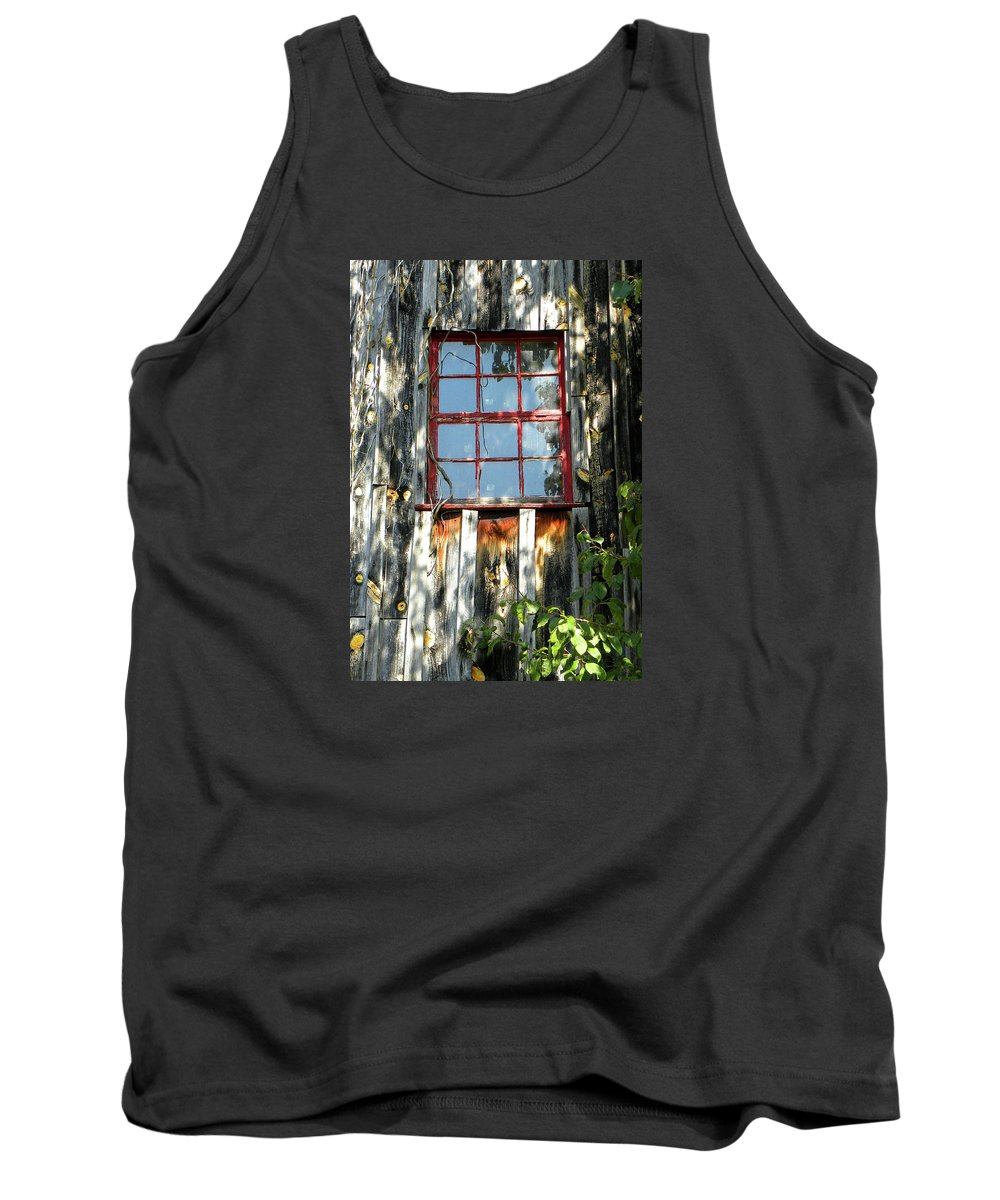 Red Window Tank Top featuring the photograph The Red Window by Sandi OReilly