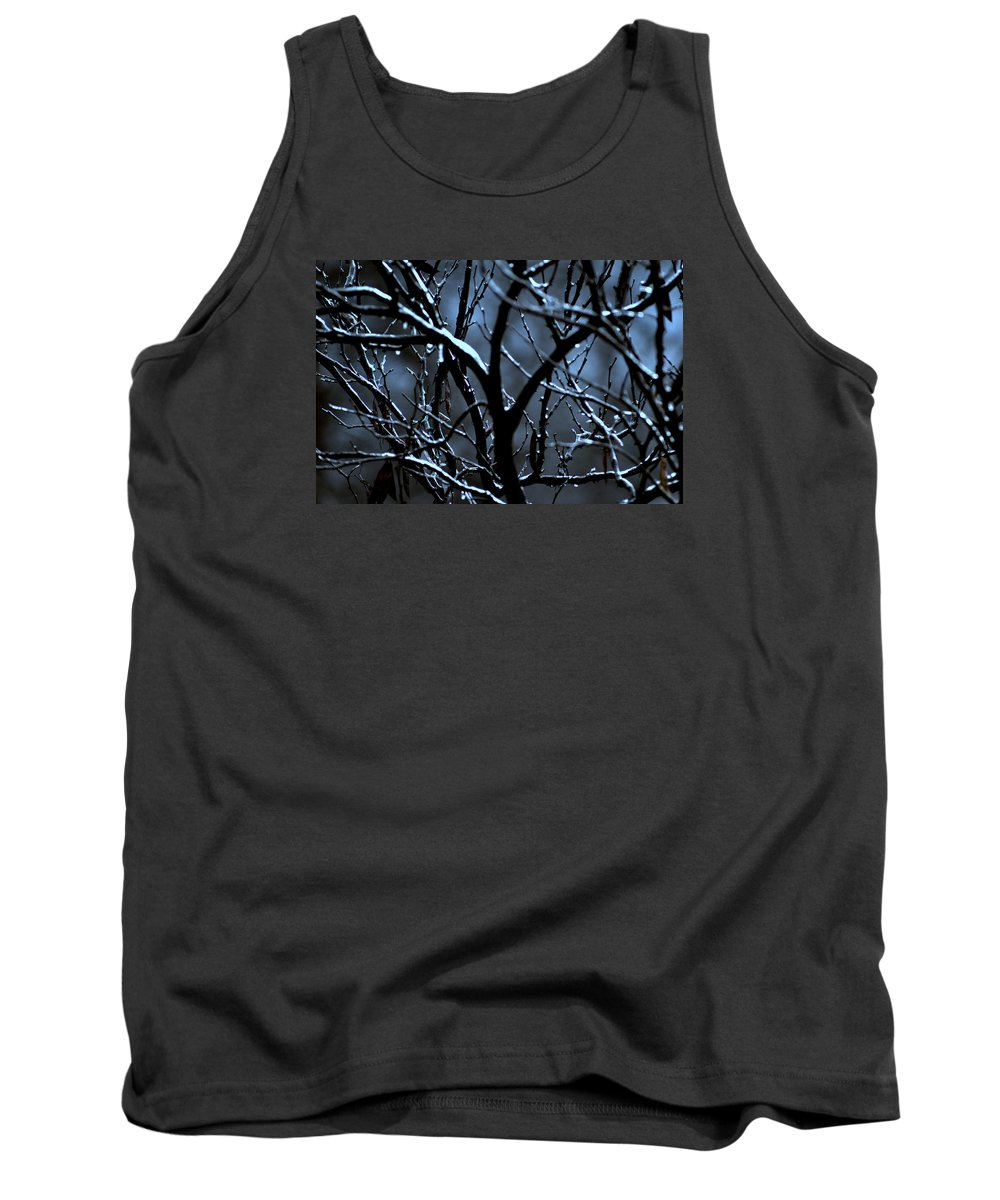 Tree Tank Top featuring the photograph Redbud Mystery by Laurie Fraser
