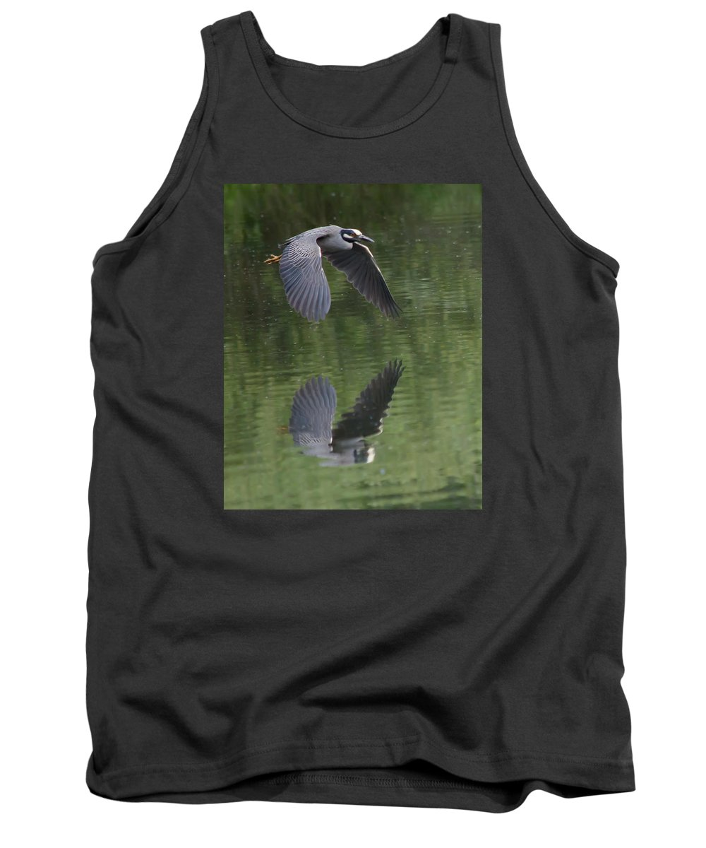 Bird Tank Top featuring the photograph Reflecting On Flight by Shane Bechler