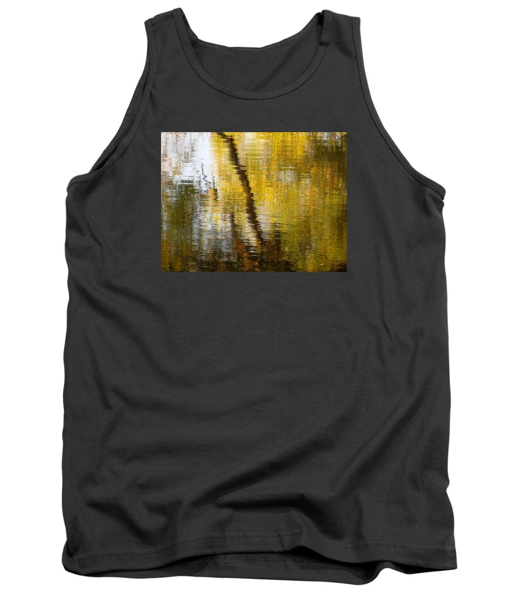 Water Tank Top featuring the photograph Fall Reflections 3 On Jamaica Pond by Giora Hadar