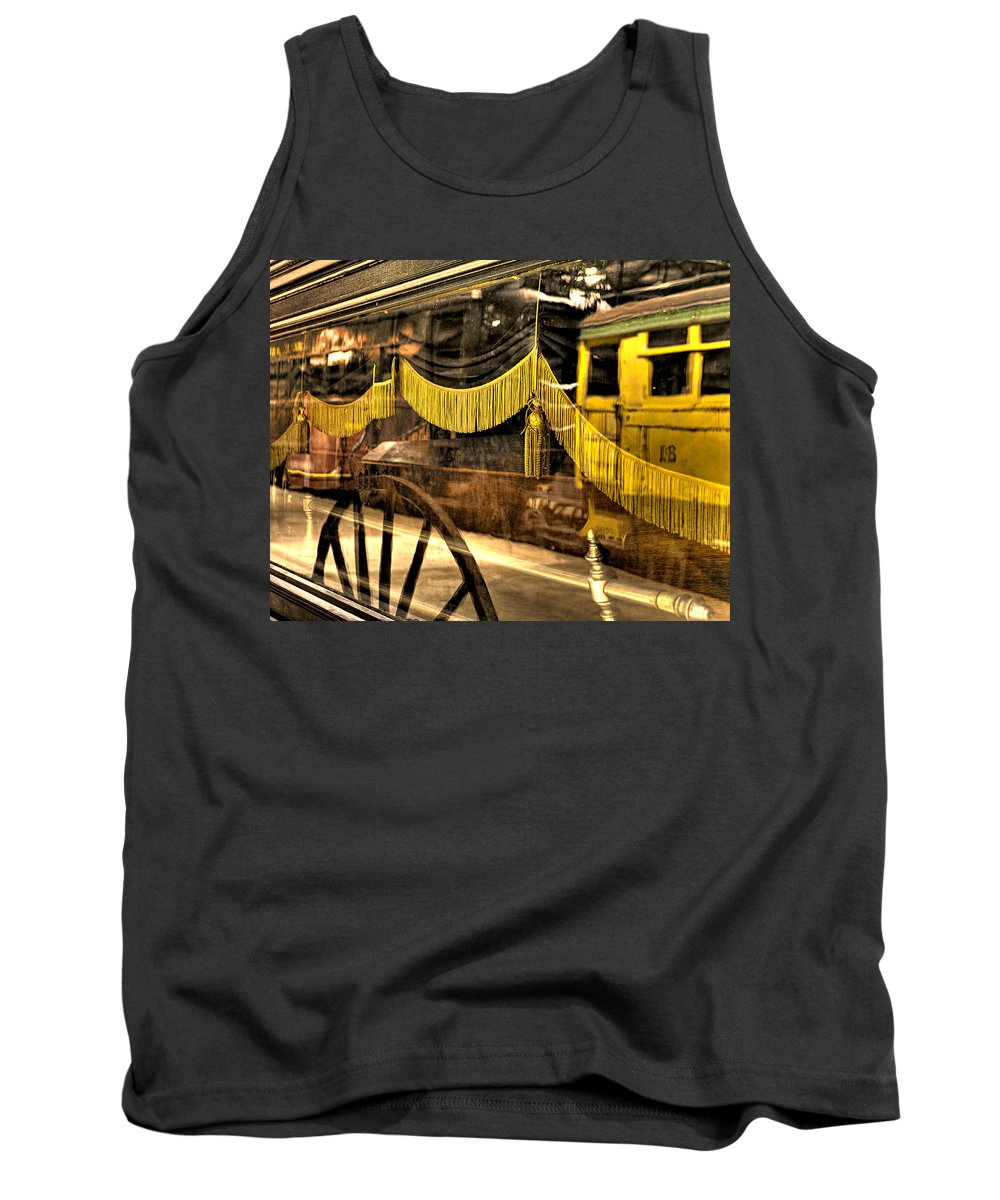 Train Tank Top featuring the photograph Reflections Of Death by Scott Wyatt
