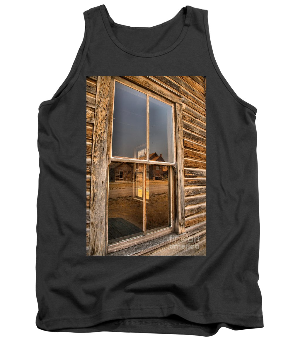 Bannack Tank Top featuring the photograph Reflections Of Montana Mining by Adam Jewell