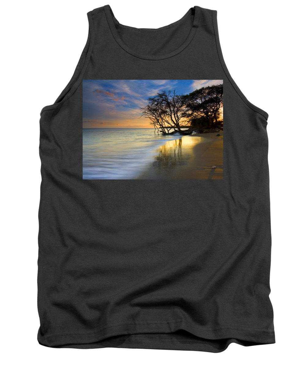 Waves Tank Top featuring the photograph Reflections Of Paradise by Mike Dawson
