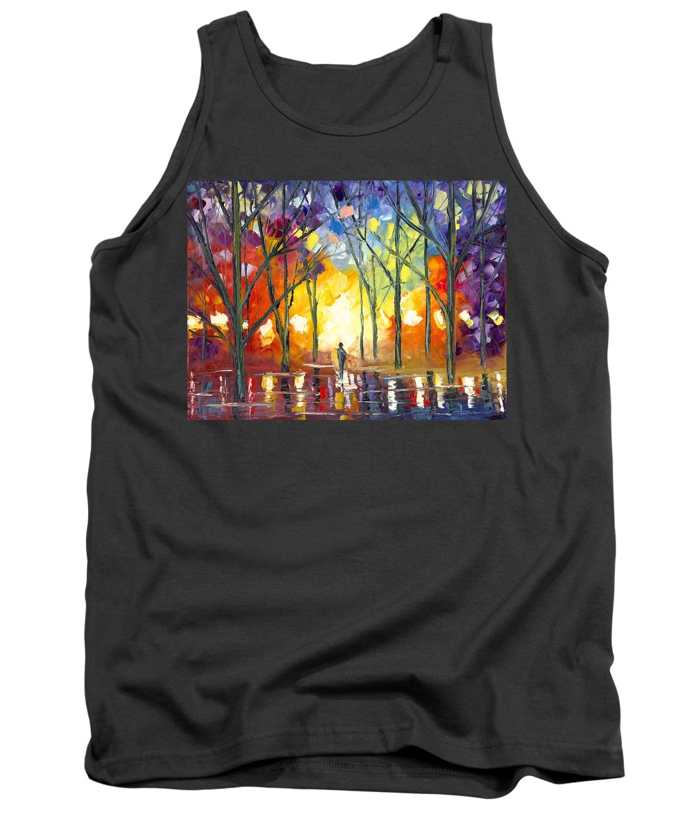 Alone Tank Top featuring the painting Reflections Of The Soul by Jessilyn Park