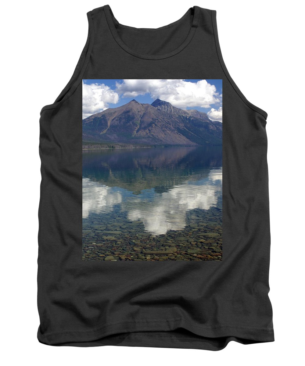 Lake Tank Top featuring the photograph Reflections On The Lake by Marty Koch