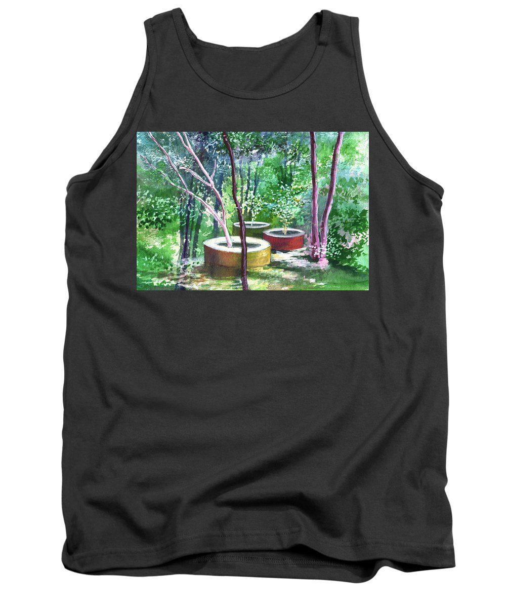 Opaque Landscape Tank Top featuring the painting Relax Here by Anil Nene