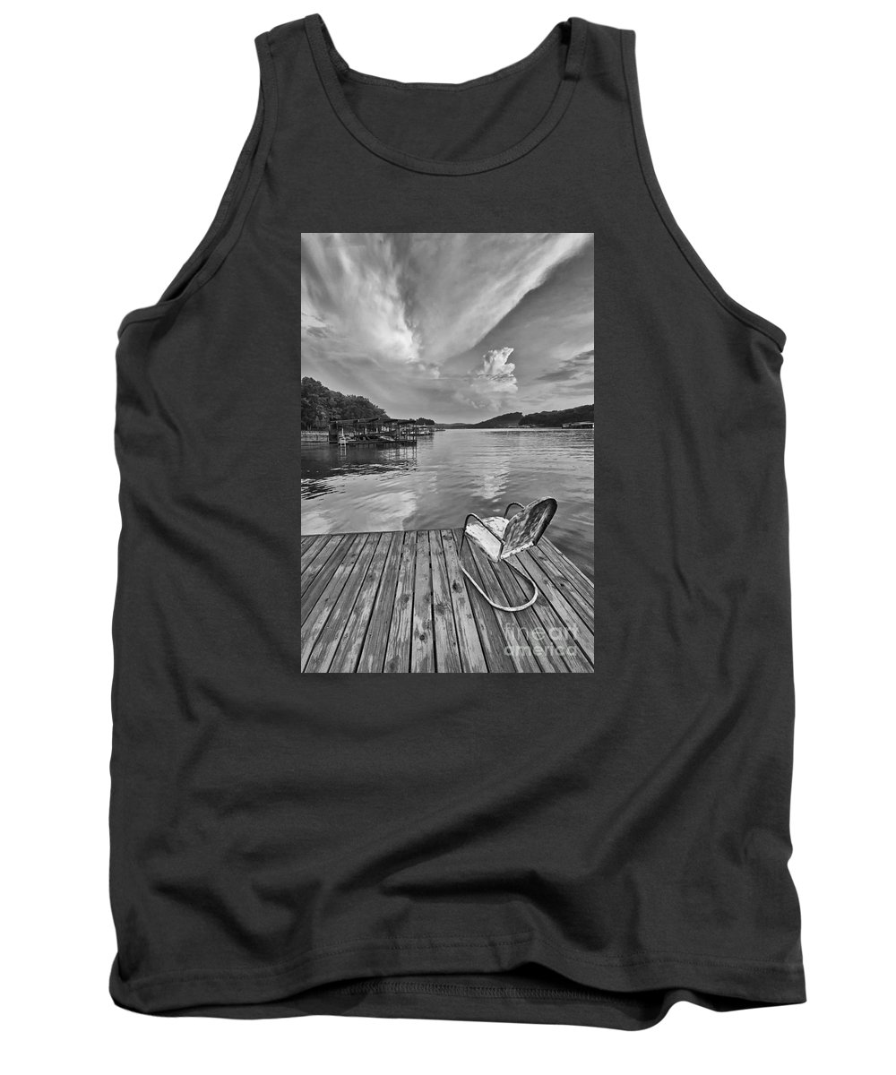 Lake Tank Top featuring the photograph Relaxing On The Dock by Dennis Hedberg