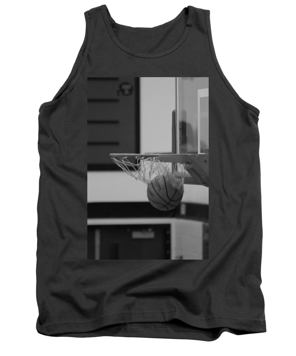 Basketball Tank Top featuring the photograph Release From The Net by Laddie Halupa
