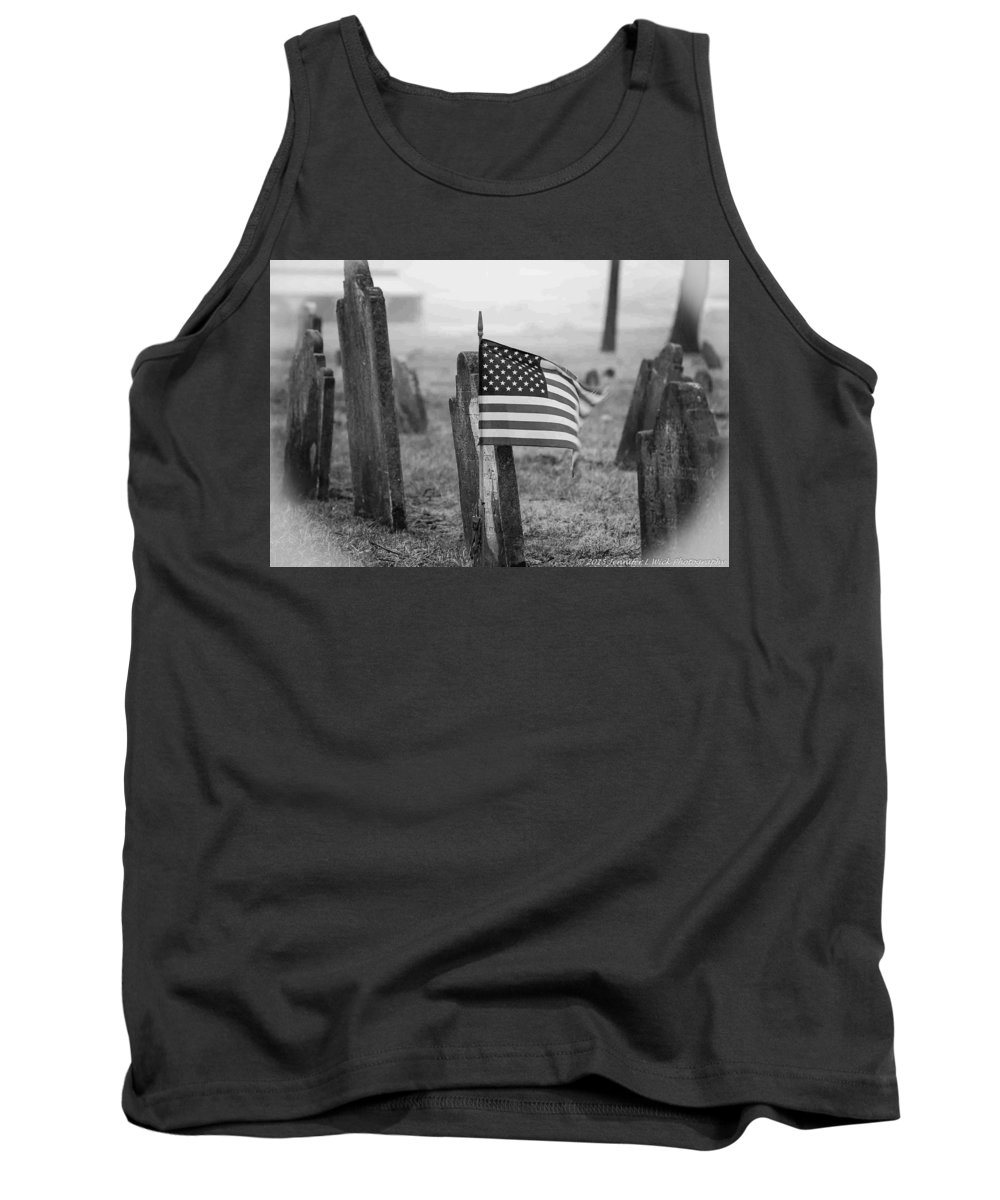 Cemetery Tank Top featuring the photograph Remember W/white Round Frame by Jennifer Wick