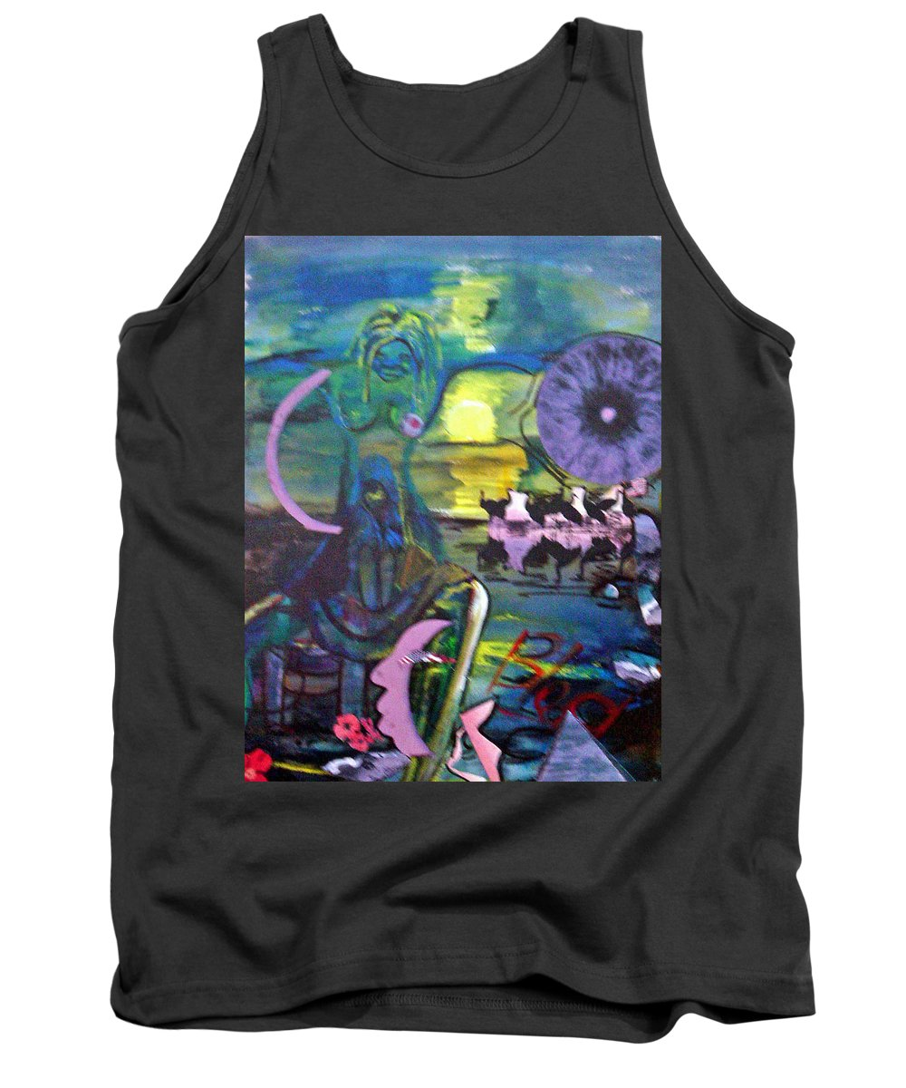 Water Tank Top featuring the painting Remembering 9-11 by Peggy Blood