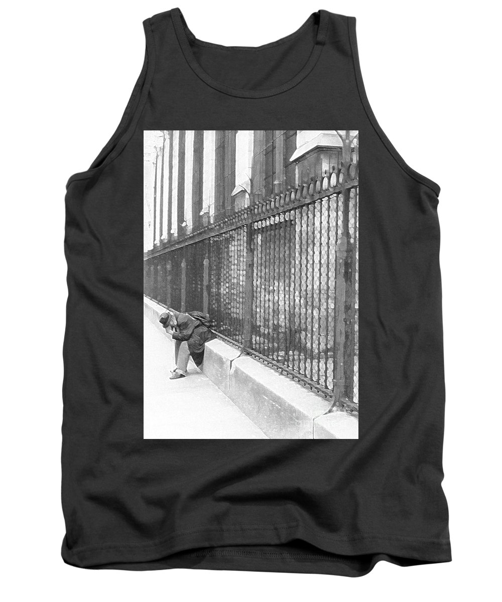 Notre Dame Tank Top featuring the photograph Remorse by Christine Jepsen