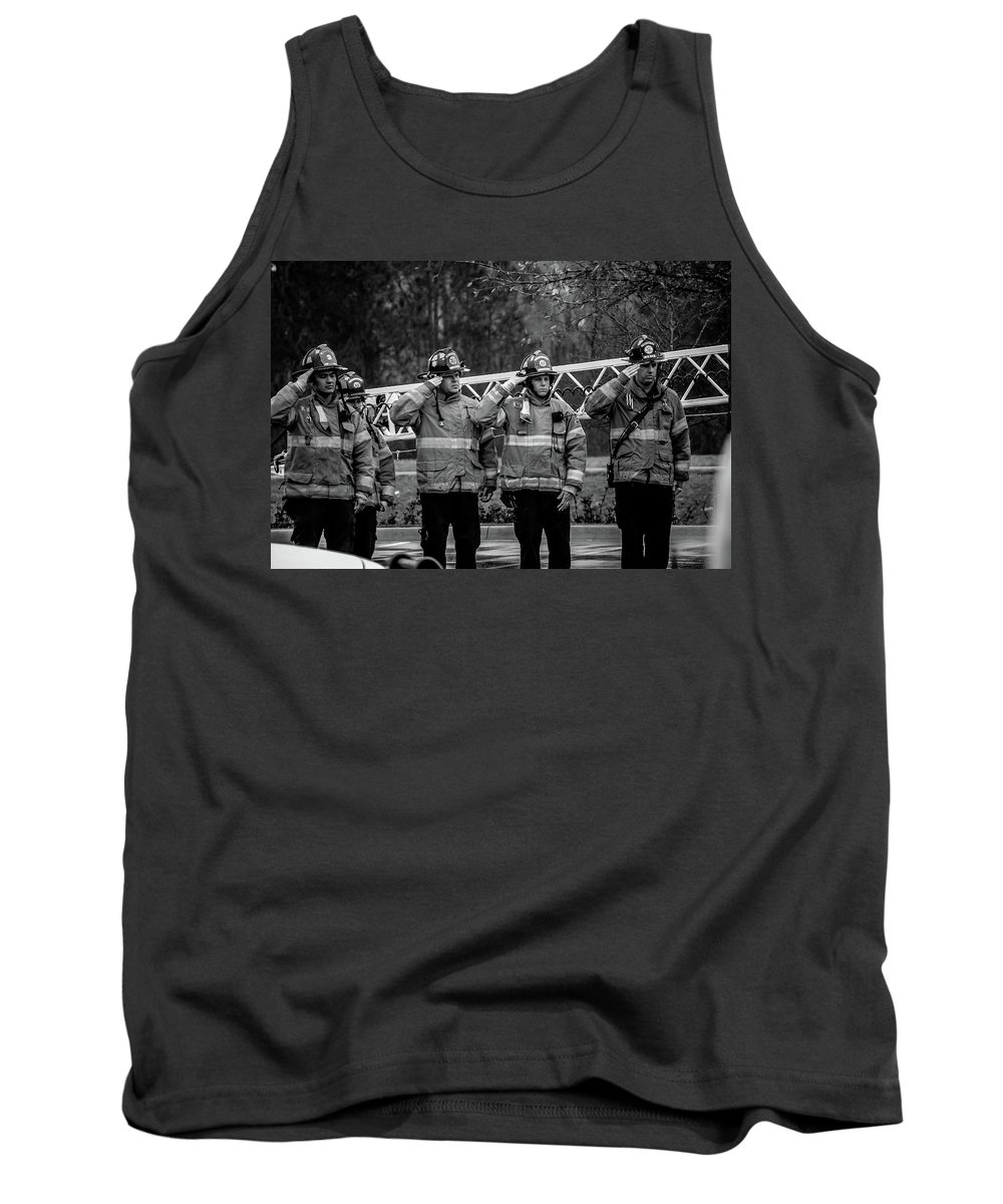 Respect Tank Top featuring the photograph Respect by Charlie Day