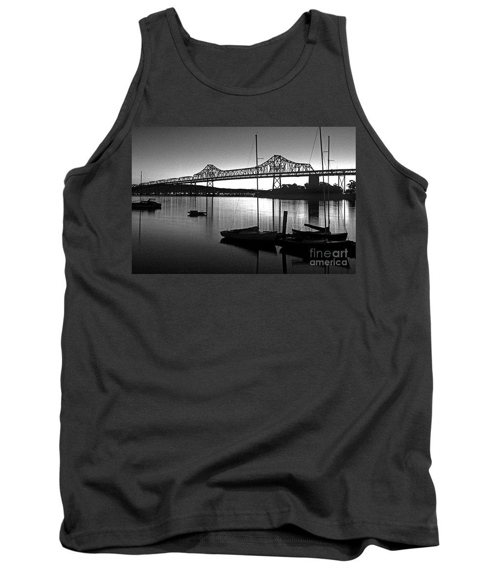 Retro Image Tank Top featuring the photograph Retro San Francisco Oakland Bay Bridge by Jim Corwin
