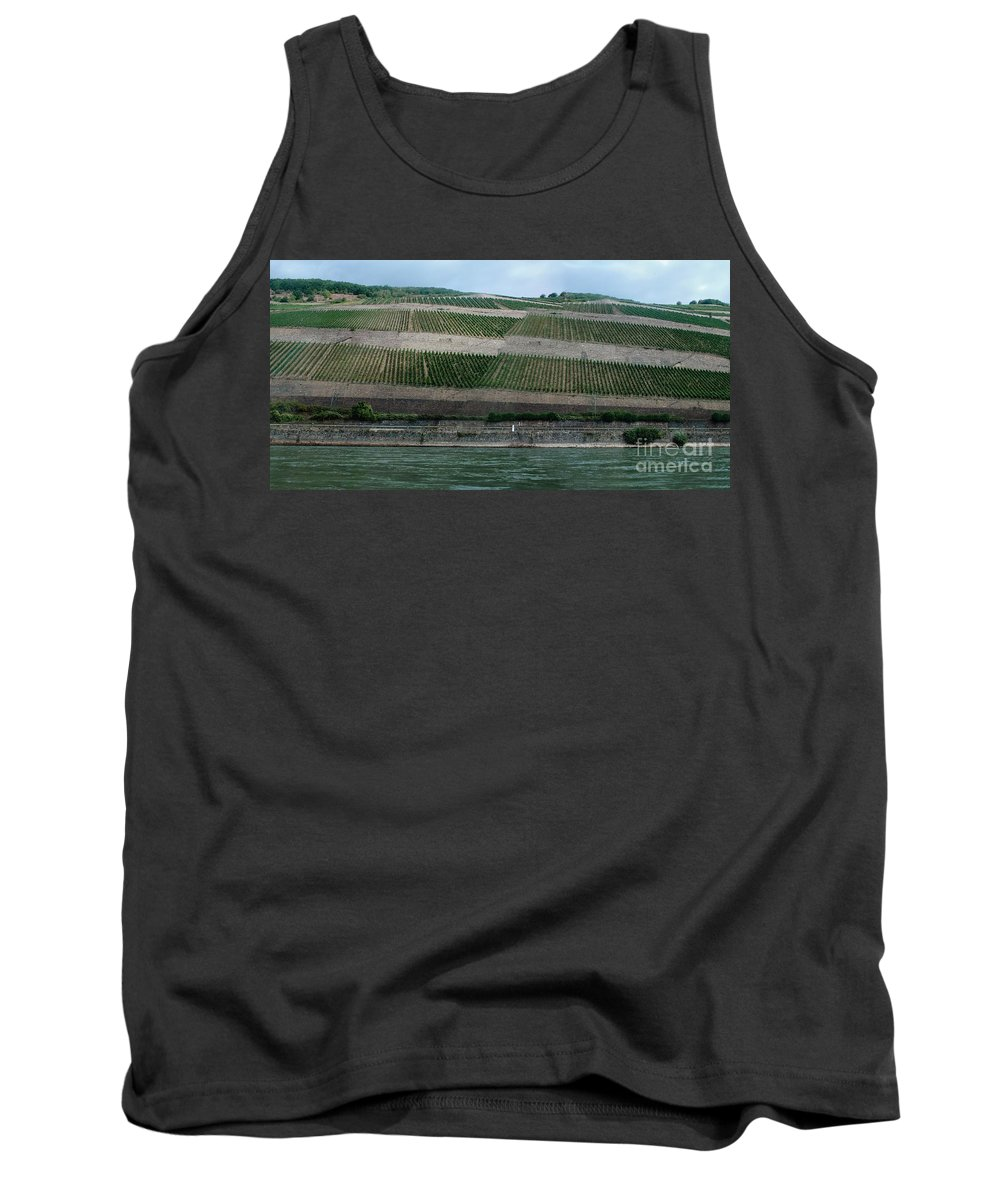 Rhine Tank Top featuring the photograph Rhine Valley Vineyards Panorama by Thomas Marchessault